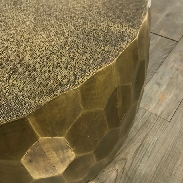 Pottery Barn Metal Clad Coffee Table - Image 8 of 10