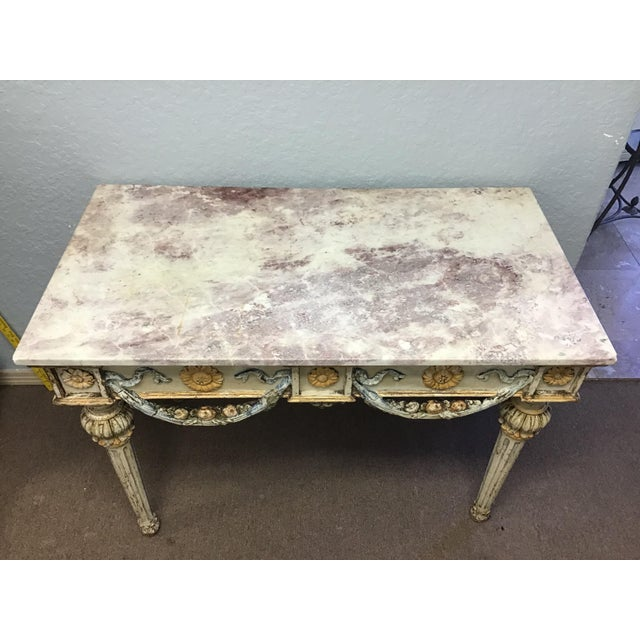 19th Century Italian Marble Top Console Table For Sale - Image 4 of 12