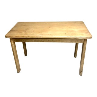 1930s Vintage Pine Farm Table Island For Sale