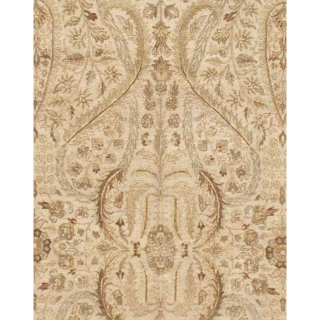 Hand Knotted Neutral Floral Indian Rug 9 10 Quot X 14 6