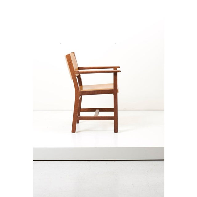 Wood Set of Ten Ge 1960s Armchairs in Leather by Hans Wegner for by Getama, Denmark For Sale - Image 7 of 13