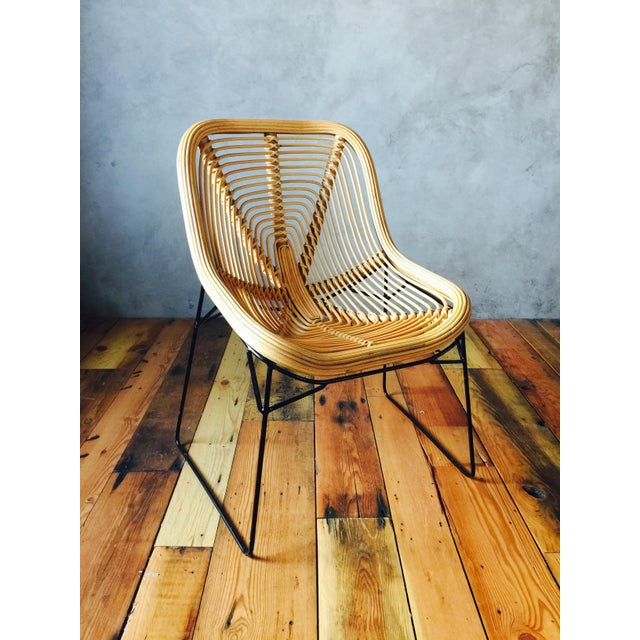 Wicker Style Lounge Chairs - A Pair - Image 3 of 5