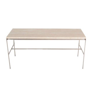 Customizable Tucker Travertine Top Console For Sale