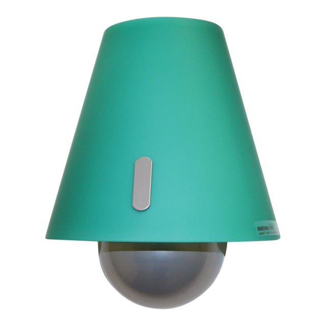 Mid-Century Modern Murano Green Glass Wall Lamp For Sale
