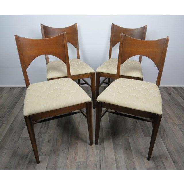 Mid-Century Modern Walnut Bowtie Dining Chairs by Lenoir - Set of 4 For Sale In Chicago - Image 6 of 13