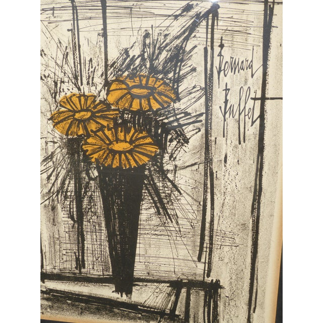 Black Vintage Mid Century Modern Style Lithograph by Famed Artist Bernard Buffet For Sale - Image 8 of 12