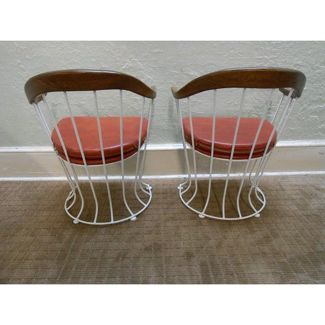 Mid-Century Modern Iron Based Dining Set - Image 9 of 10