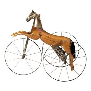 French Velocipede or Child's Horse Tricycle For Sale