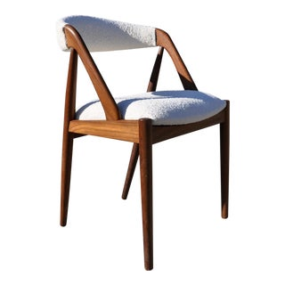 1960s Vintage Kai Kristiansen Solid Teak Danish Dining Model 31 Chair For Sale