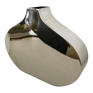 Chrome Flat Vase