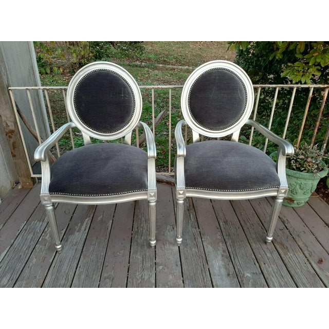 Bernhardt Louis Arm Chairs - a Pair For Sale - Image 13 of 13