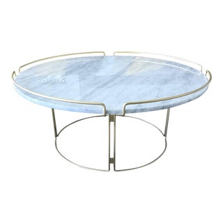 Bijou Cocktail Table in Marble and Matte Gold by Roche Bobois For Sale