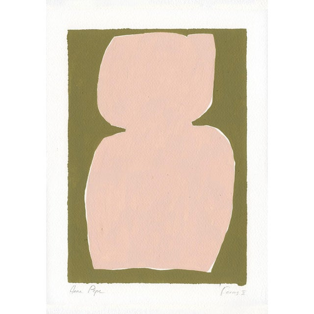 2020s Contemporary Minimalist Abstract Gouache Painting For Sale - Image 5 of 5