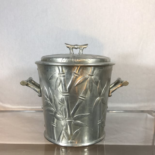 Aluminum Bamboo Ice Bucket - Image 2 of 9