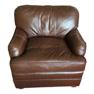 Bespoke Leather Armchair For Sale