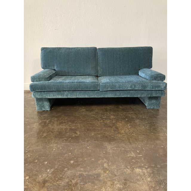 1980s Vintage Blue Sofa For Sale In Austin - Image 6 of 6