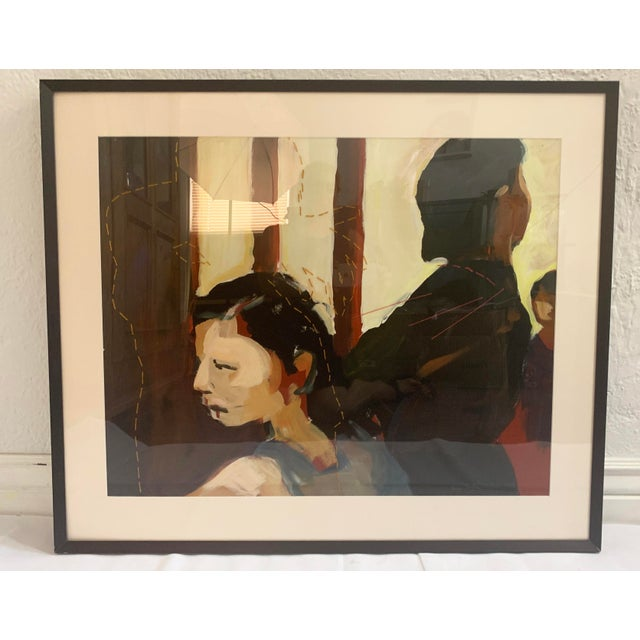 Susan Durfee Thulin 'The Dance' Large Framed Painting For Sale - Image 4 of 13
