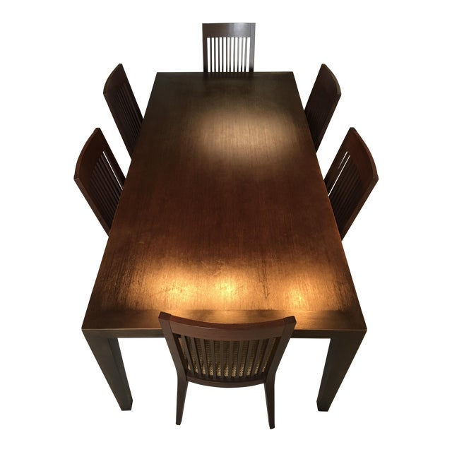 Room & Board Bamboo Timbre Table and 6 Chairs - Image 3 of 8