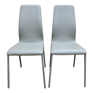 Eurostyle Casale Side Chairs in Taupe -A Pair For Sale