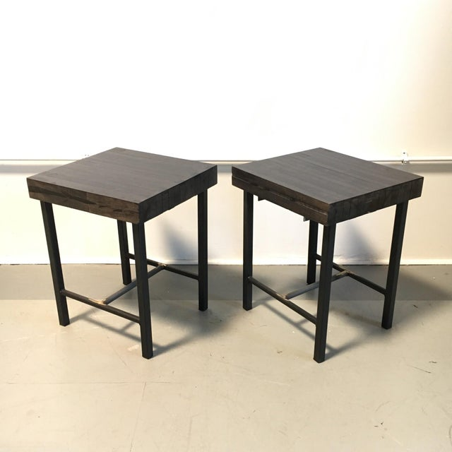 Bowling Lane Side Tables - A Pair - Image 2 of 4