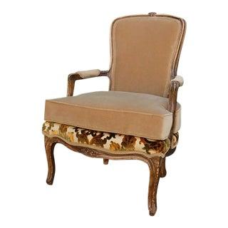 1910s Vintage Fountainebleau Bergère Accent Chair For Sale