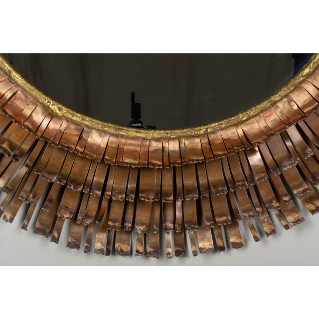 Copper Curtis Jere Copper Eyelash Mirror For Sale - Image 8 of 12