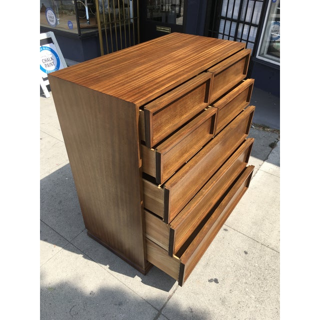 1950s Mid Century Modern Triangle Brand Mahogany Highboy For Sale In Los Angeles - Image 6 of 12