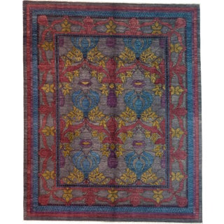 "Arts & Crafts Hand Knotted Area Rug - 8'2"" X 9'10"" For Sale"