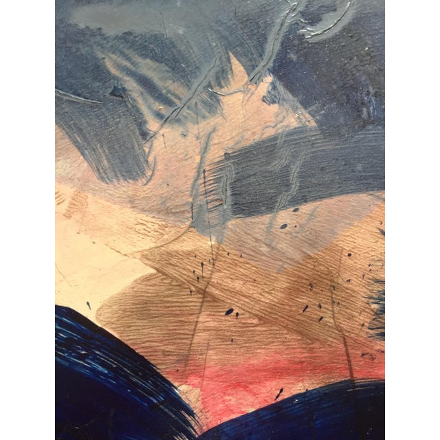 Blue Border Patricia Zippin Vintage Abstract For Sale - Image 4 of 7