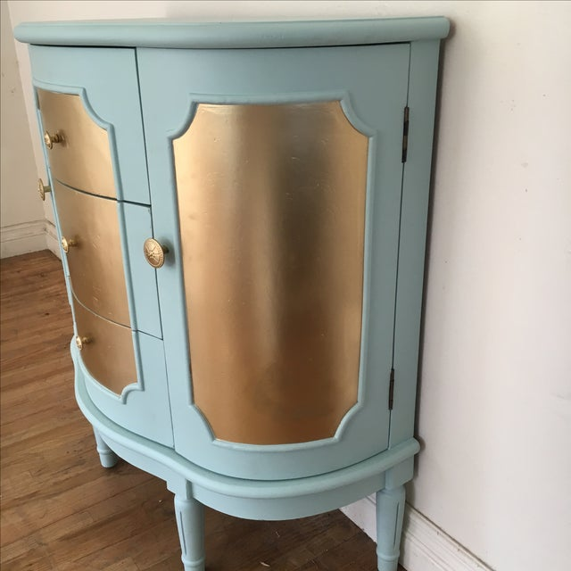 Demilune Console Table or Storage Cabinet - Image 7 of 9