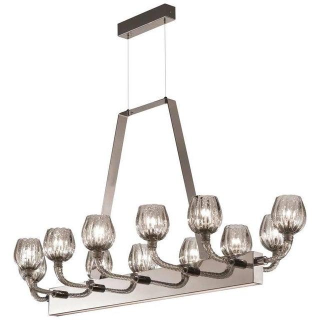 Gray Ferrara Chandelier by Fabio Ltd For Sale - Image 8 of 8