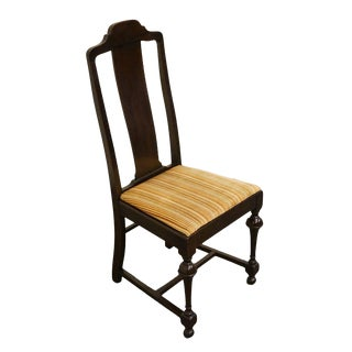 W.F. Whitney Co. Mahogany Splat Back Dining Side Chair For Sale