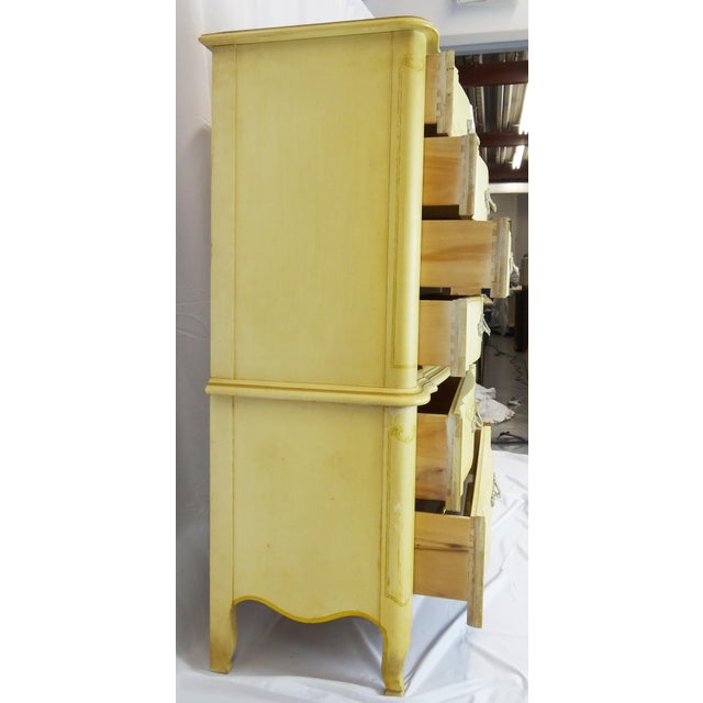 Shabby Chic 1940s Vintage Heritage French Provincial Style Dresser For Sale - Image 3 of 10