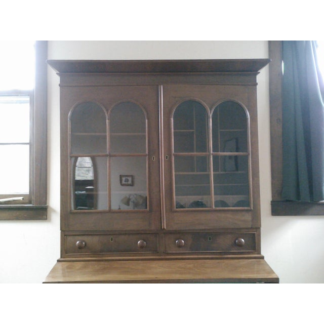 Antique Secretary Desk with Shelving - Image 8 of 9