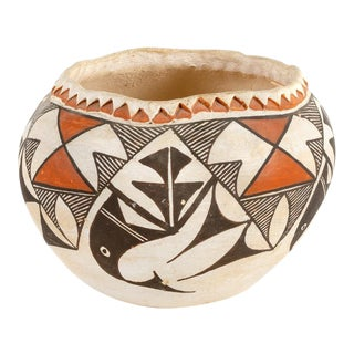 Southwestern Acoma Olla Polychrome Pottery For Sale