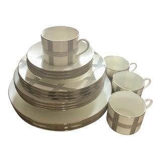 Ralph Lauren Glen Plaid Porcelain Set for 4 Place Settings - 20 Pc. Set For Sale