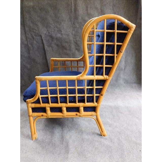Vintage Bauhaus Rattan Wing Chairs Pair Chairish