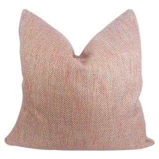 Orange Tweed Accent Pillow