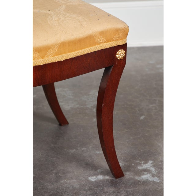 Early 19th Century Pair of Early 19th C Swedish Empire Mahogany Stools For Sale - Image 5 of 8