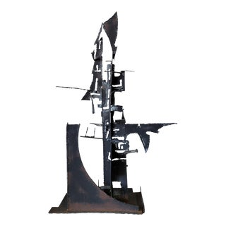 Mid Century Brutalist Sculpture For Sale