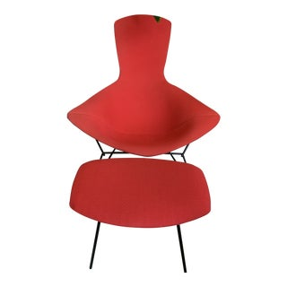 Knoll Bertoria Bird Chair and Ottoman For Sale