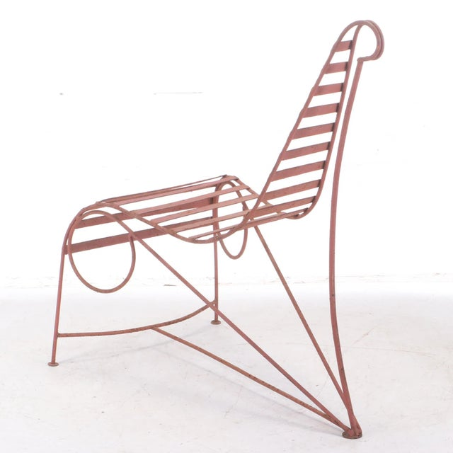 Wonderful Garden Chaise,,beautiful design,, great quality,, nice old paint finish,, Manner of Andre Dubreuil,, Condition:...