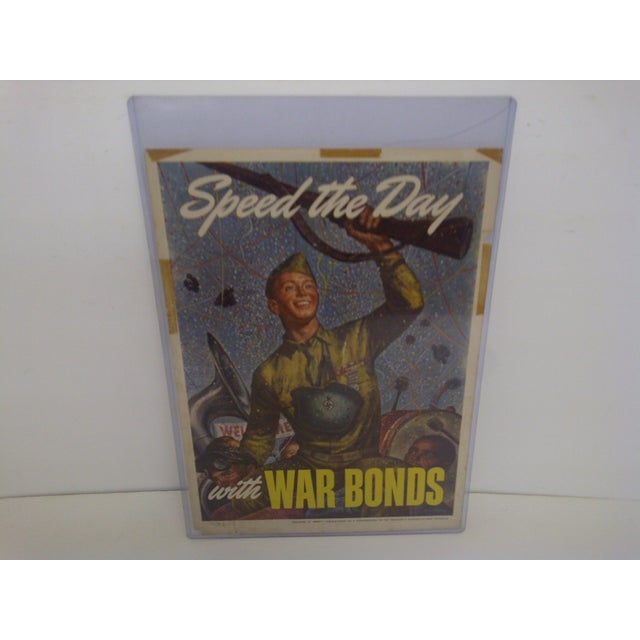 """Speed The Day -- With War Bonds"" -- Artist -- Joseph Hirsch Published by Abbott Laboratories for Schools At War Program...."