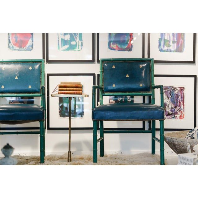 Mid-Century Blue Arm Chairs - a Pair For Sale In Wichita - Image 6 of 8