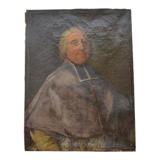 Antique Portrait of a Clergyman Painting For Sale