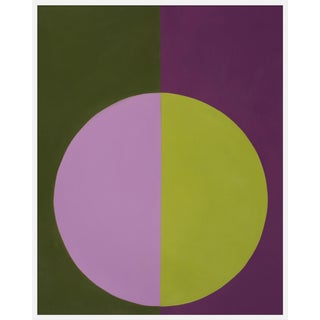 "Large ""Violet and Green Forever"" Print by Stephanie Henderson, 41"" X 51"" For Sale"