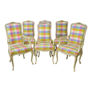Henredon Vintage French Louis XV Style Dining Chairs - Set of 6