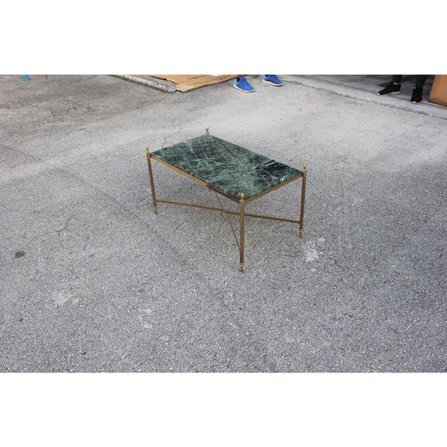 Metal 1940s Vintage French Maison Jansen Coffee Table For Sale - Image 7 of 13