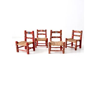 Vintage Mexican Folk Art Chair Collection - Set of 12 Preview