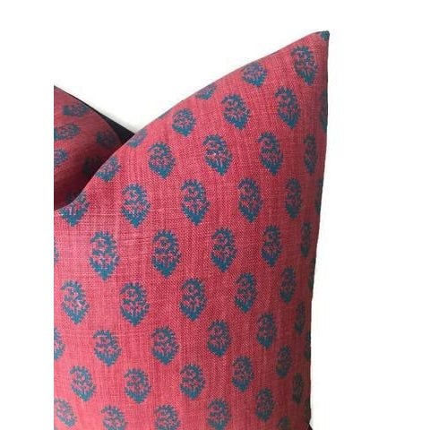Red & Blue Rajmata Pillow Cover - Image 2 of 4